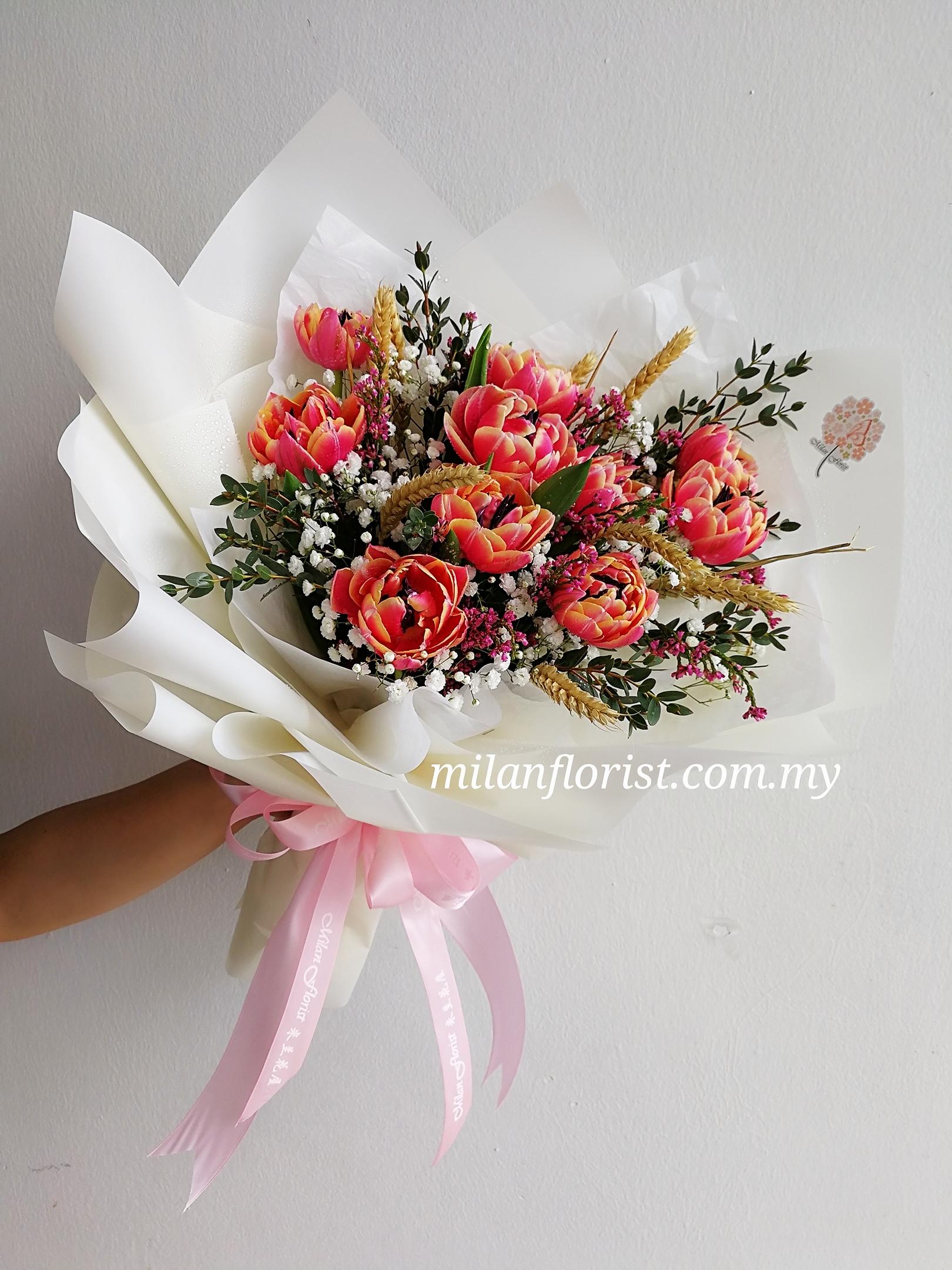 tulip flower bouquet 郁金香花束