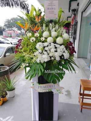 funeral condolences wreath 往生花圈 funeral floral stand