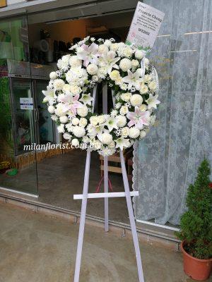 funeral condolences wreath 往生花圈