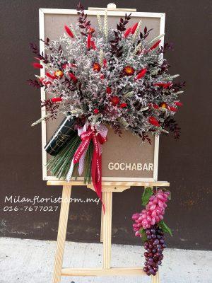 Opening-Ceremony-Floral-Board-开张-开幕-创业-进口-干花-花架-画架-2