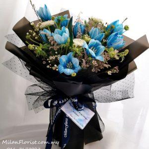 Blue Tulip Bouquet