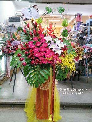 Opening Flower Stand, 米兰开张花架,花架,Ceremony Flower, Opening flower stand,JOHOR FLORIST JOHOR BAHRU FLORIST MOUNT AUSTIN FLORIST SKUDAI FLORIST NUSAJAYA FLORIST MALAYSIA FLORIST KSL FLORIST TOPPEN FLORIST PARADIGM FLORIST MIDVALLEY SOUTHKEY FLORIST CITY SQUARE FLORIST 新山花店 柔佛花店 皇后花店 马来西亚花店 开张花篮 开幕花篮 开业花篮 乔迁之喜 生意兴隆 大展宏图 鲜花 假花 Kedai bunga johor bahru,florist,austin florist