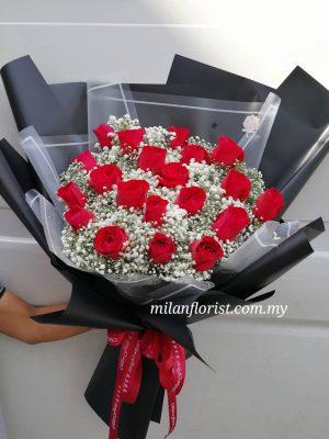 Milan Roses Bouquet, Rose Bouquet, Rose, Roses, 玫瑰花,鲜花,Black roses,黑玫瑰,roses,JB FLORIST,JOHOR FLORIST JOHOR BAHRU FLORIST MOUNT AUSTIN FLORIST SKUDAI FLORIST NUSAJAYA FLORIST MALAYSIA FLORIST KSL FLORIST TOPPEN FLORIST PARADIGM FLORIST MIDVALLEY SOUTHKEY FLORIST CITY SQUARE FLORIST 新山花店 柔佛花店 皇后花店 马来西亚花店 开张花篮 开幕花篮 开业花篮 乔迁之喜 生意兴隆 大展宏图 鲜花 假花 Kedai bunga johor bahru
